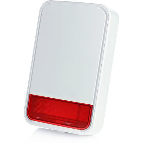 Sirène d'alarme extérieure avec flash - Alarme Visonic - Blanc