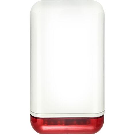 Sirène d'alarme intérieure / extérieure avec flash - Alarme Atlantic'S - Blanc