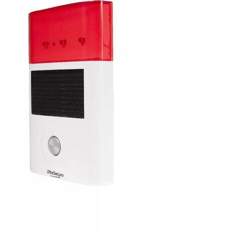 Sirène supplémentaire solaire sans-fil extérieure 130 dB et flashs lumineux (gamme BT)