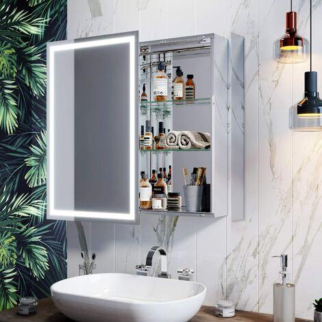 SIRHONA Armoire miroir de salle de bain
