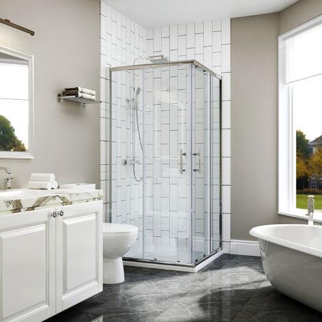 SIRHONA Cabine de douche Entrée d'angle Cabine de douche Portes coulissantes carrées