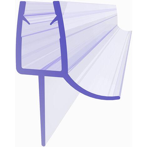 SIRHONA joint de porte de douche 120cm, Joint d'étanchéité, joint de rechange, adapté pour 5 mm / 6 mm d'épaisseur de verre joint en caoutchouc joint de douche en PVC, avec déflecteur d'eau - 04