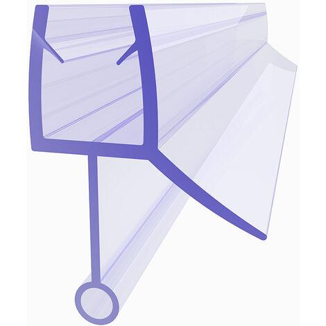 SIRHONA joint de porte de douche 80cm, Joint d'étanchéité, joint de rechange, adapté pour 6 mm / 7 mm d'épaisseur de verre joint en caoutchouc joint de douche en PVC, avec déflecteur d'eau - 02