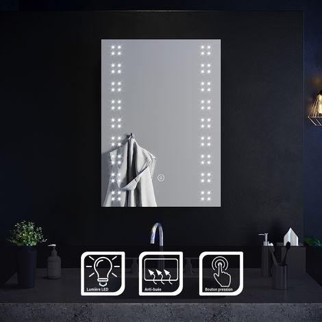 SIRHONA Miroir de salle de bain Avec éclairage, Diverses dimensions à choix