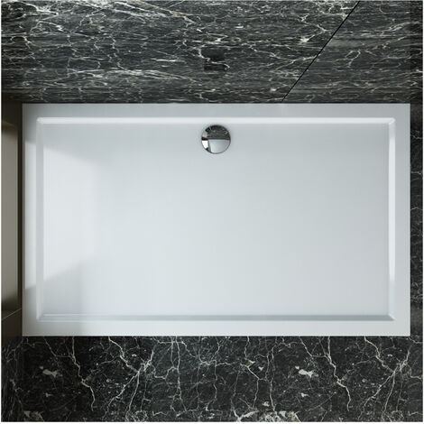 SIRHONA Plato de Ducha Portatil,roca,con Altura 4cm Blanco,Antideslizante,Liso