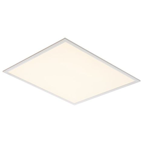 Sirio 40W Warm Ceiling Recessed Light - Gloss White Square Flat Panel