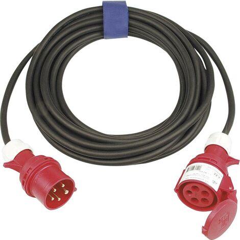 SIROX 362.425 Strom Verlängerungskabel 16A Schwarz 25.00m X93799