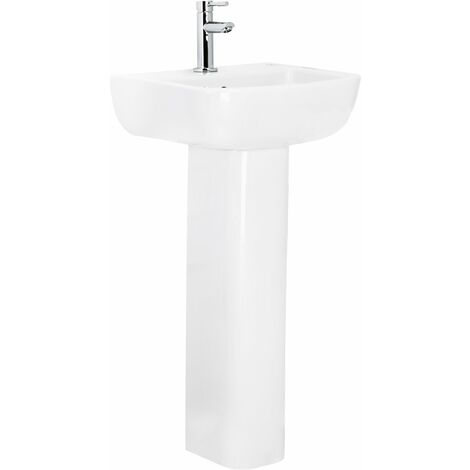 Sirus 400mm Basin with 1 Tap Hole and Full Pedestal