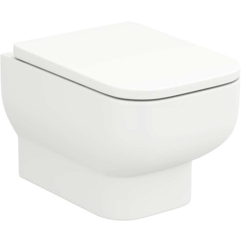 Sirus Rimless Wall Hung Toilet Pan With Soft Close Seat