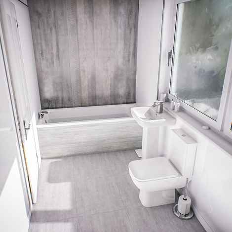 Sirus Straight Bathroom Suite