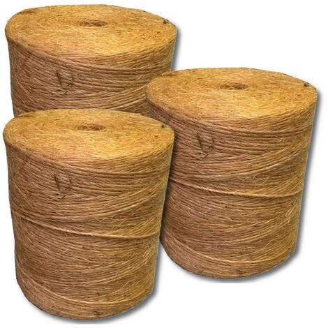 Sisal ficelle de presse 200m/kg ficelle de liage fil cordon corde ficelle de presse 1 rouleau de 1 800 m