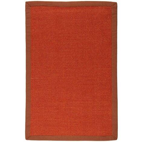 SISAL - <p>Tapis en jute esprit végétal orange 70x110</p> - Orange
