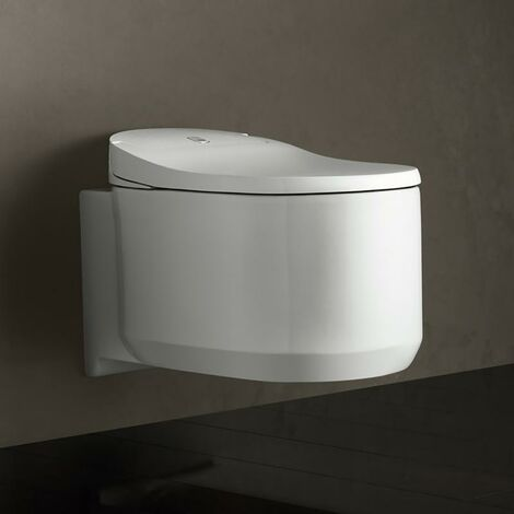 Sistema completo de WC con ducha Sensia Arena de Grohe para cisternas empotradas, montaje en pared, 39354SH1, blanco alpino - 39354SH1