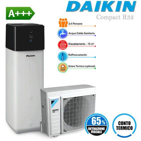 Sistema Daikin Compact R32 6 kW in pompa di calore aria-acqua per riscaldamento, raffrescamento, acqua sanitaria e collegamento impianto solare