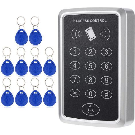 Sistema de acceso a tarjeta RFID de proximidad de una puerta de 125KHz, 10pcs ID Keyfobs