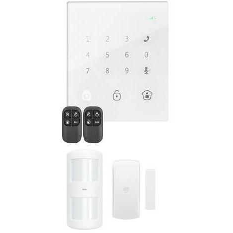 Sistema de Alarma para el Hogar Inalámbrica GSM Con Panel Táctil Sin cuotas Chuango GO2
