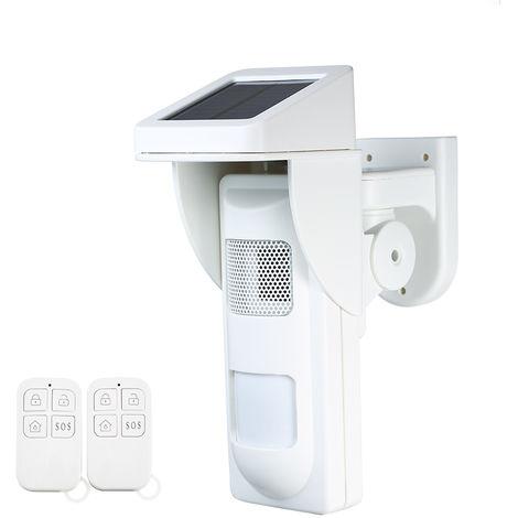Sistema de alarma solar de luz estroboscopica por infrarrojos, 2 controladores