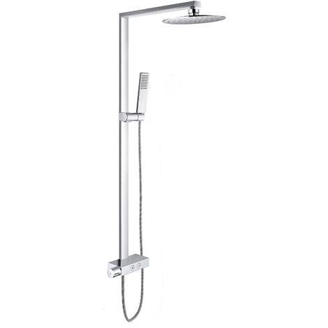 Sistema de ducha combinado termostático NT6905C con flexo y ducha de mano - con o sin cabezal de ducha redonda