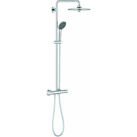sistema de ducha Grohe - con grifería termostática Vitalio alegría 260mm Chrome - Chrome