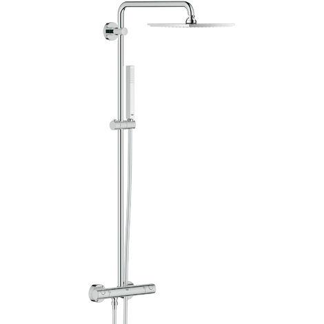 Sistema de ducha Grohe Euphoria con cabezal de ducha metálico Allure 230 - 26187000