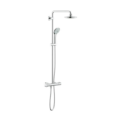 Sistema de ducha Grohe Euphoria System 180 E con mezclador termostático, montaje en pared - 26418000