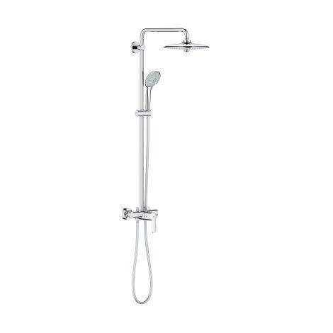 Sistema de ducha Grohe Euphoria System 260 con mezclador monomando, montaje en pared, estabilizador de caudal GROHE EcoJoy - 27473001