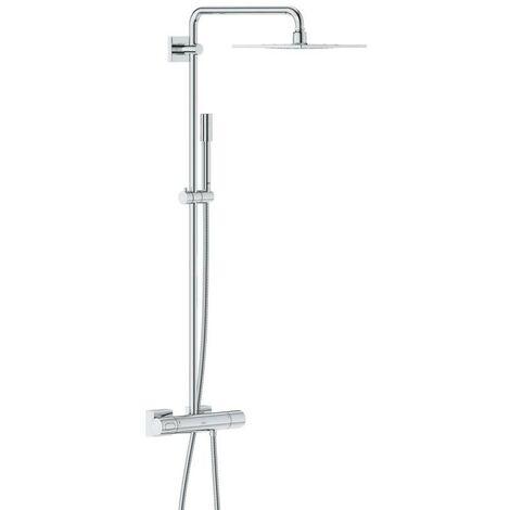 Sistema de ducha Grohe Rainshower con cabezal de ducha metálico F-Series 254 - 27469000