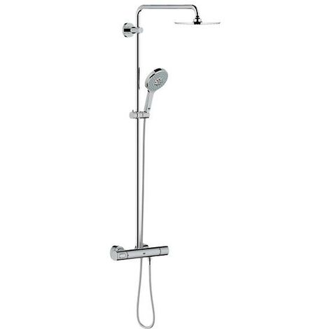 Sistema de ducha Grohe Rainshower con ducha mural metálica Cosmopolitan 210 y teleducha Power & Soul - 27967000