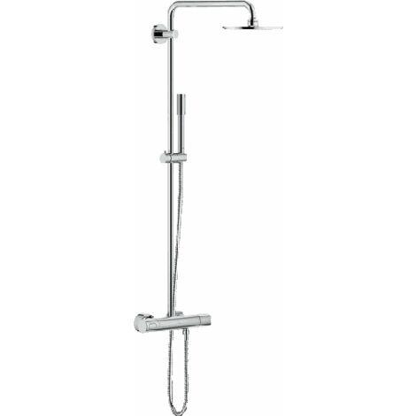 Sistema de ducha Grohe Rainshower con ducha mural metálica Cosmopolitan 210 y teleducha Sinea - 27032001
