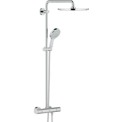 Sistema de ducha Grohe Rainshower con ducha mural metálica Cosmopolitan 310 y mango de ducha Power-Soul - 27968000