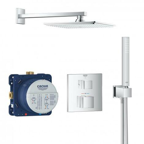 Sistema de ducha oculta Grohe Grohtherm con Rainshower Allure 230, desviador integrado de 2 vías, 2 consumidores, cromo - 34741000