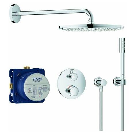 Sistema de ducha oculta Grohe Grohtherm con Rainshower Cosmopolitan 310, desviador integrado de 2 vías, 2 consumidores, cromo - 34731000