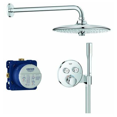 Sistema de ducha oculta Grohe Grohtherm SmartControl, con juego de ducha superior Euphoria 260, cromada - 34744000