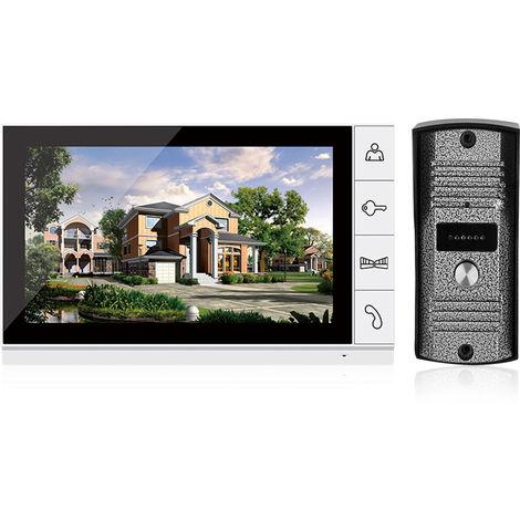 Sistema de intercomunicacion por videoportero de 9 pulgadas, seguridad para el hogar