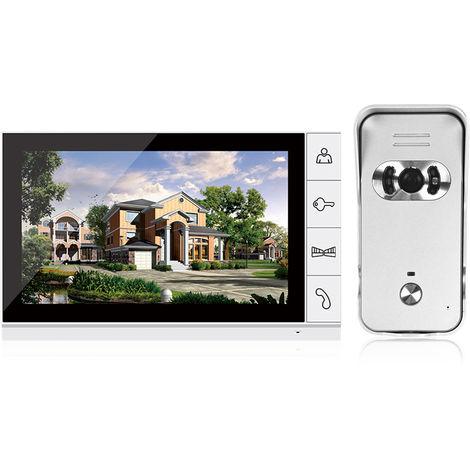 Sistema de intercomunicacion Seguridad para el Hogar LCD de 9 pulgadas Color video de la puerta Telefono