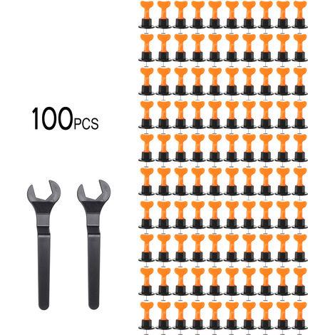 Sistema de nivelación del sistema de nivelación de baldosas de pared de piso 100 Juego de herramientas de construcción reutilizable