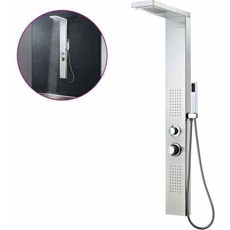 Sistema de panel de ducha acero inoxidable cuadrado