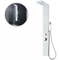 Sistema de panel de ducha aluminio blanco mate