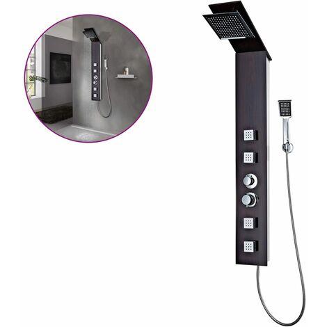 Sistema de panel de ducha vidrio marrón