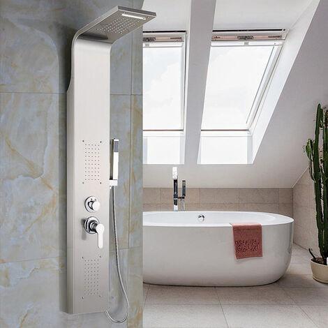 Sistema de panel de ducha,Columna de baño,Color primario de acero inoxidable cepillado