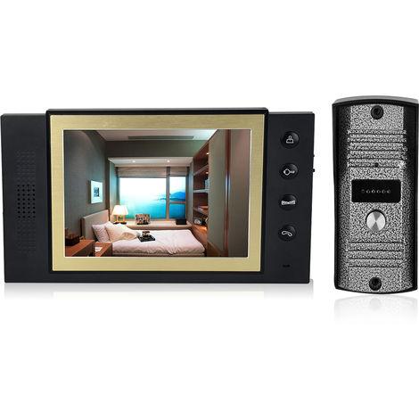 Sistema de seguridad de 8 pulgadas video de la puerta de intercomunicacion telefono, camara de vision nocturna por infrarrojos timbre de la puerta