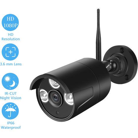 Sistema de Vigilancia de 2,0 MP camara IP 1080P las camaras de seguridad, negro