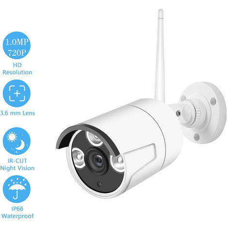 Sistema de Vigilancia, White 1.0MP 720P Camara IP de camaras de seguridad