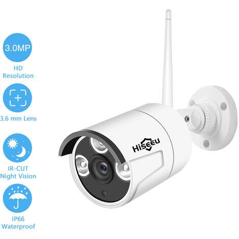 Sistema de Vigilancia, White 2.0MP 1080P camara IP de camaras de seguridad