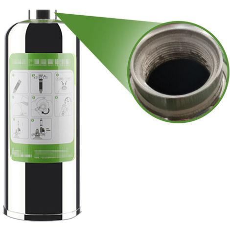 Sistema generador de cilindro de acero inoxidable CO2, 1L