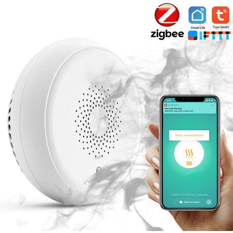 Sistema tuya Smart Home Zigbee alarma de humo del detector del sensor inteligente Fuego del sensor de seguridad inalambrica inteligente Vida Tuya Control de APP