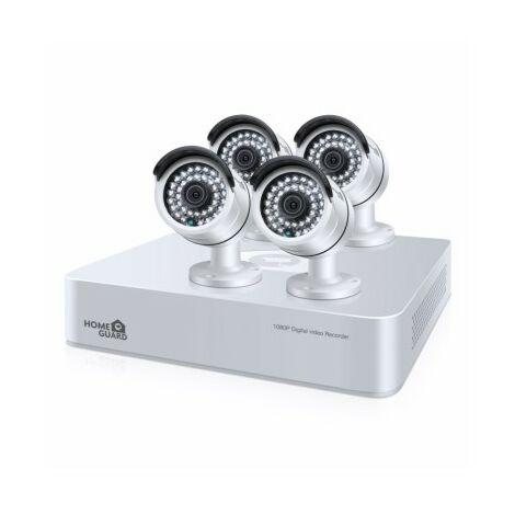 Sistema Vigilancia Disco Duro 1Tb 4 Camaras 1080P Cableado 8 Cana