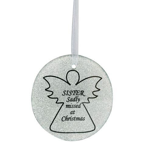 Sister Angel Christmas Tree Memorial Tribute Ornament Bauble Decoration Xmas