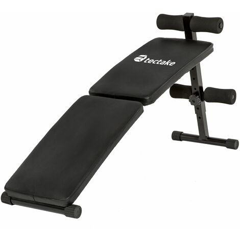 Sit up bench model 2 - weight bench, gym bench, workout bench - black - schwarz