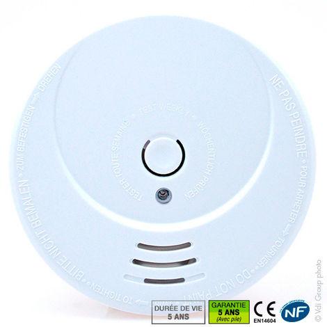 Siter - Detector de humo fotoeléctrico NF SITER (Ref. GS506)